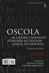OSCOLA: Oxford University Standard for Citation of Legal Authorities